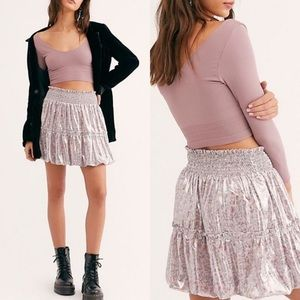NWT Free People In A Bubble Mini Skirt